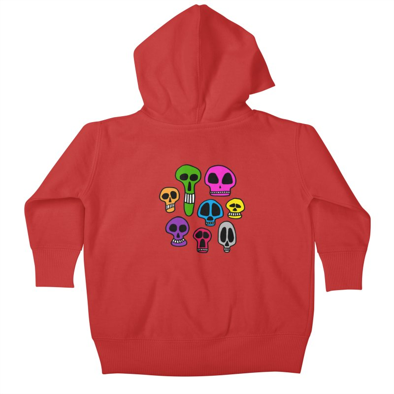 Color Skulls Kids Baby Zip-Up Hoody by jeffisawesome's Artist Shop