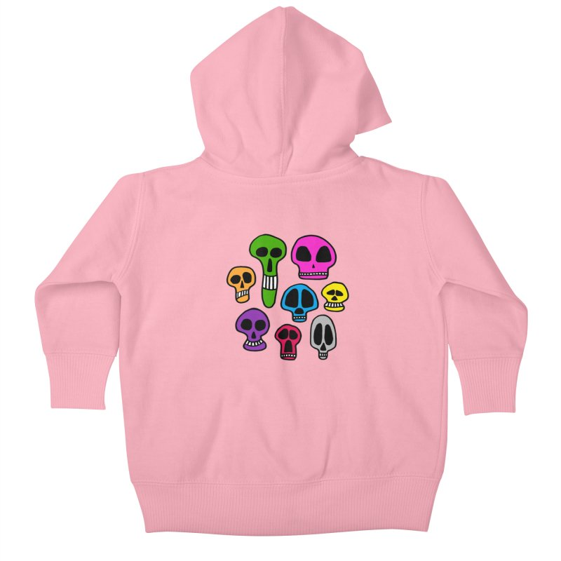 Color Skulls Kids Baby Zip-Up Hoody by jeffisawesome's Artist Shop