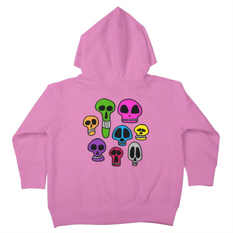 Color Skulls Kids Toddler Zip-Up Hoody by jeffisawesome's Artist Shop