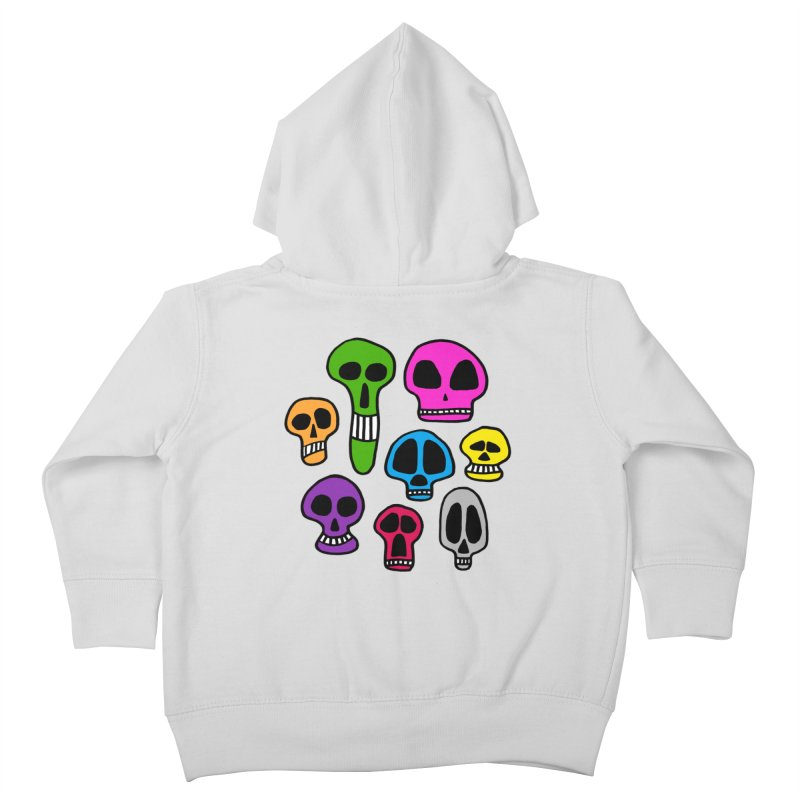 Color Skulls Kids Toddler Zip-Up Hoody by jeffisawesome's Artist Shop