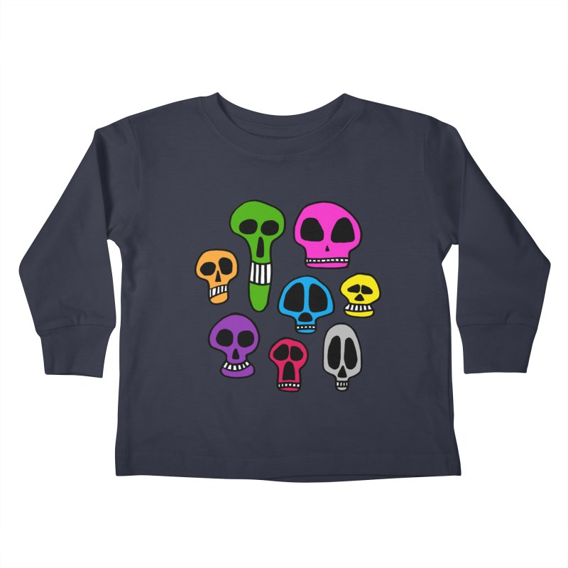Color Skulls Kids Toddler Longsleeve T-Shirt by jeffisawesome's Artist Shop
