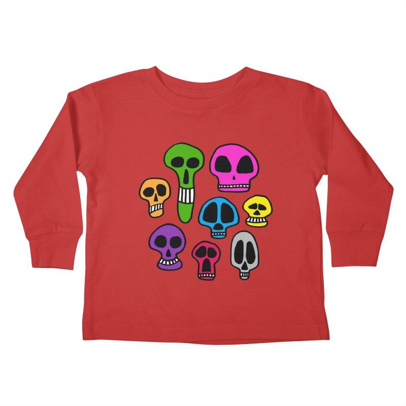 Color Skulls Kids Toddler Longsleeve T-Shirt by jeffisawesome's Artist Shop