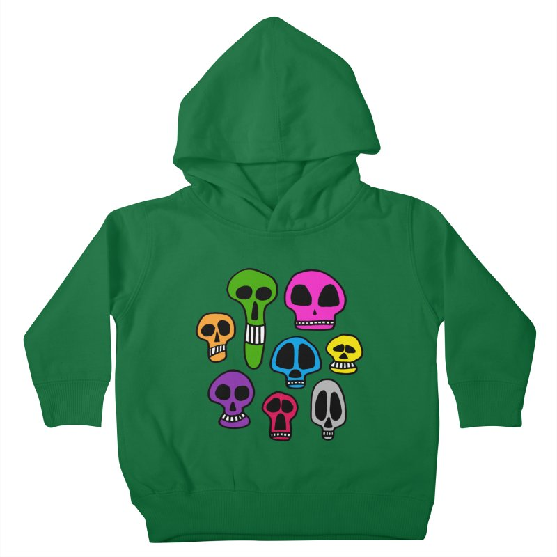 Color Skulls Kids Toddler Pullover Hoody by jeffisawesome's Artist Shop