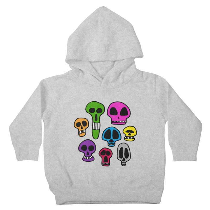Color Skulls Kids Toddler Pullover Hoody by jeffisawesome's Artist Shop