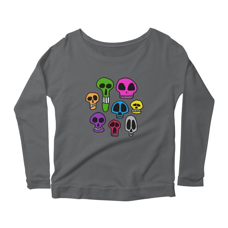 Color Skulls Women's Longsleeve T-Shirt by jeffisawesome's Artist Shop