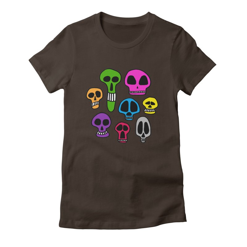 Color Skulls Women's Fitted T-Shirt by jeffisawesome's Artist Shop