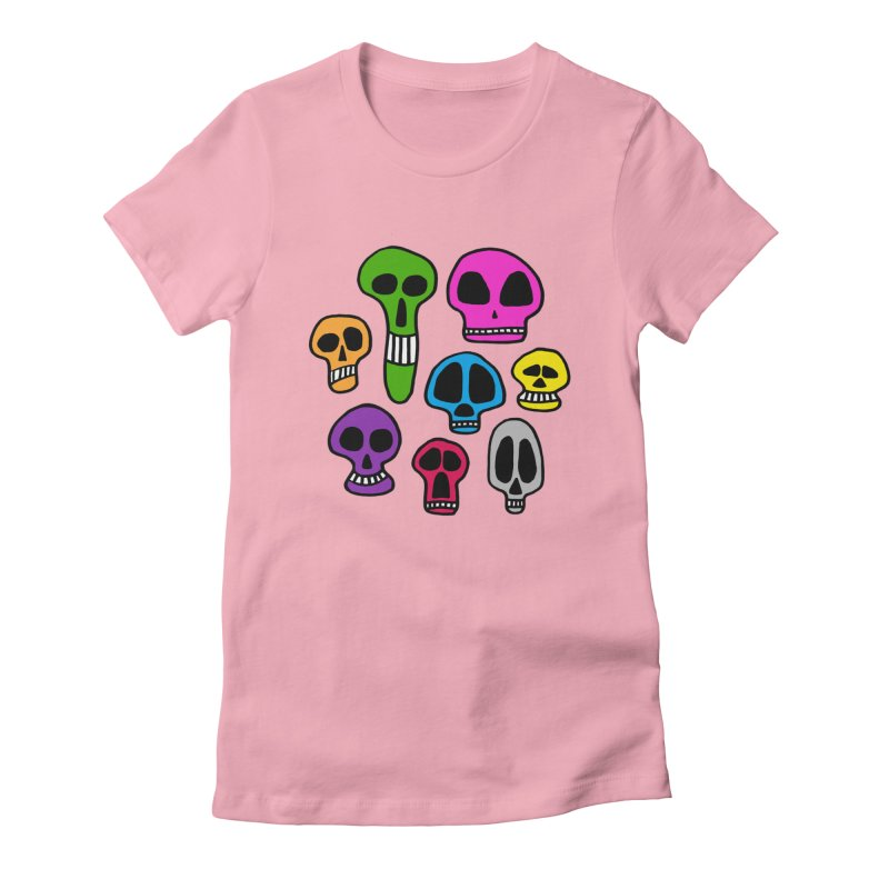 Color Skulls Women's T-Shirt by jeffisawesome's Artist Shop