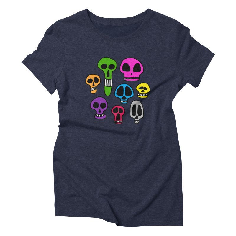 Color Skulls Women's Triblend T-Shirt by jeffisawesome's Artist Shop