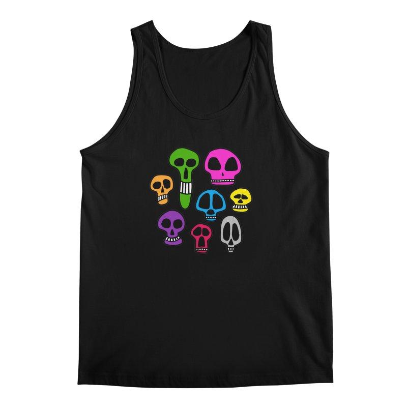 Color Skulls Men's Regular Tank by jeffisawesome's Artist Shop
