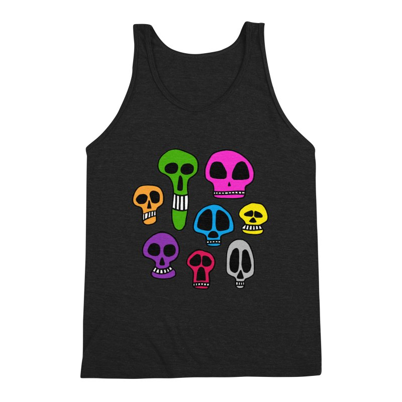 Color Skulls Men's Triblend Tank by jeffisawesome's Artist Shop
