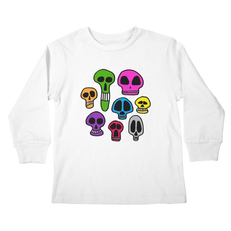 Color Skulls Kids Longsleeve T-Shirt by jeffisawesome's Artist Shop