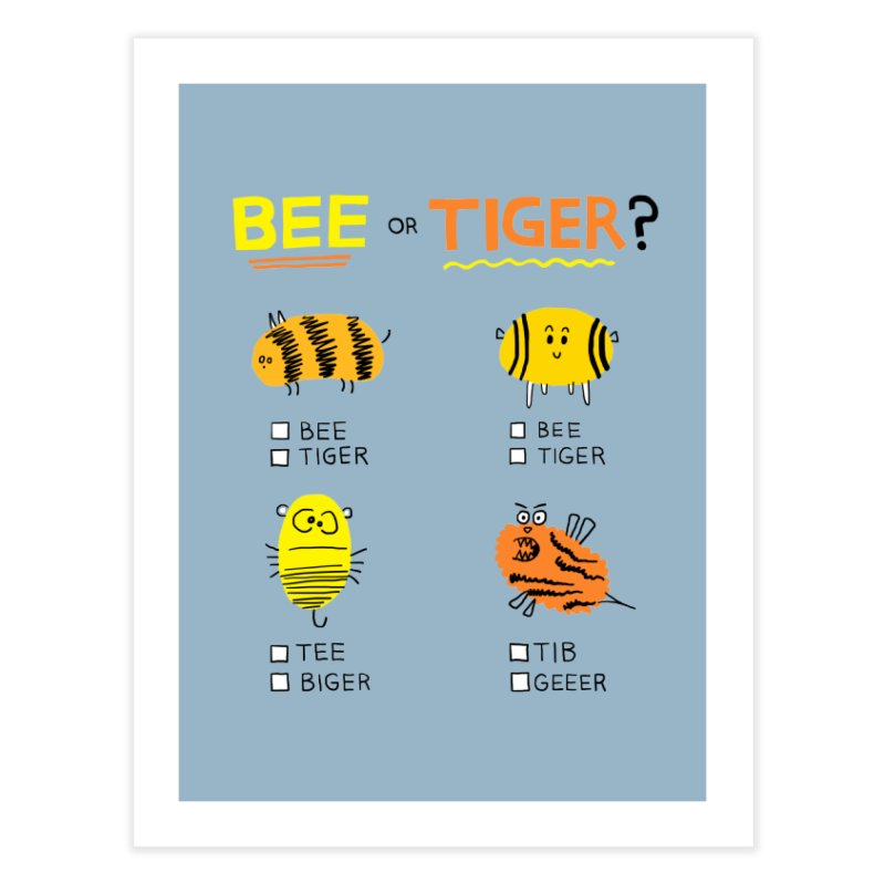 Bee or Tiger? Home Fine Art Print by jeffisawesome's Artist Shop