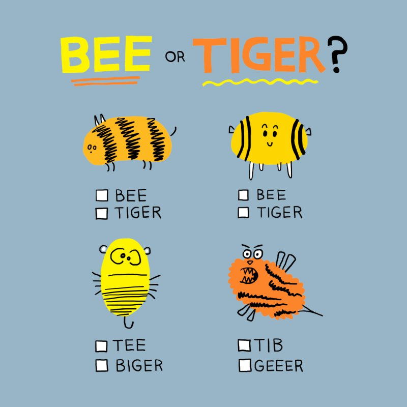 Bee or Tiger? Women's Longsleeve T-Shirt by jeffisawesome's Artist Shop