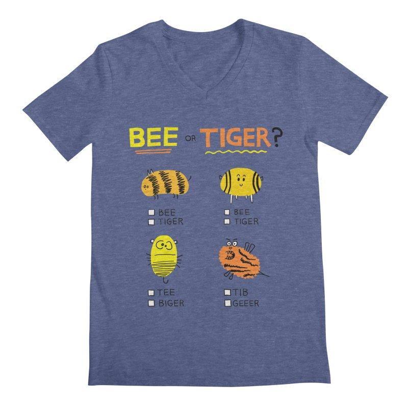 Bee or Tiger? Men's Regular V-Neck by jeffisawesome's Artist Shop