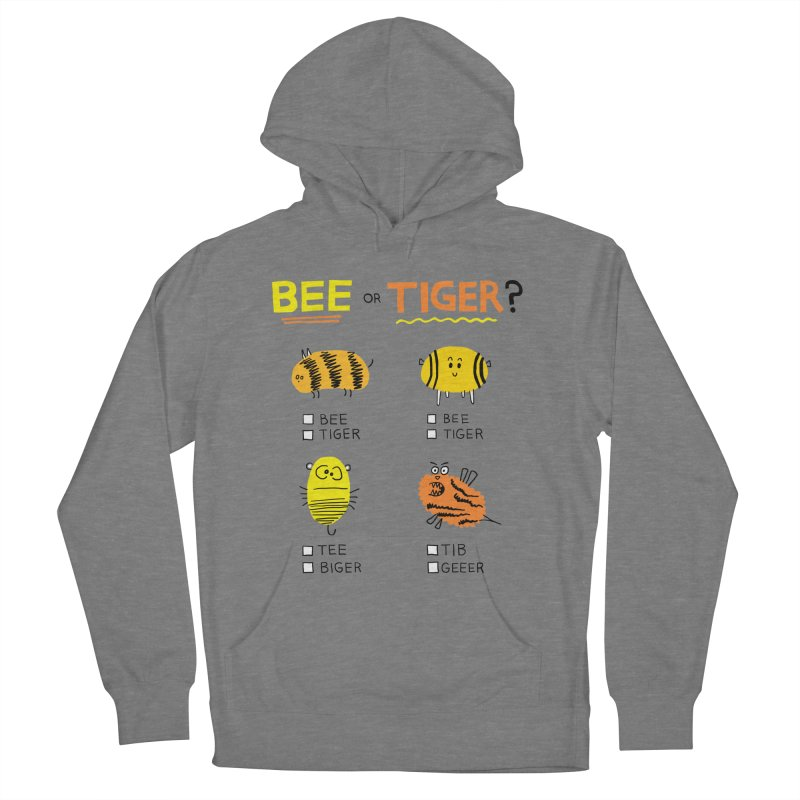 Bee or Tiger? Men's French Terry Pullover Hoody by jeffisawesome's Artist Shop