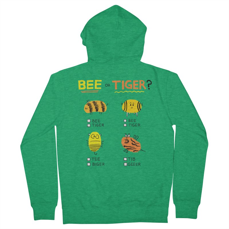 Bee or Tiger? Women's Zip-Up Hoody by jeffisawesome's Artist Shop
