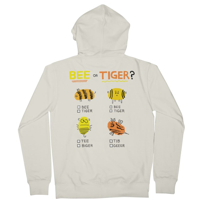 Bee or Tiger? Women's French Terry Zip-Up Hoody by jeffisawesome's Artist Shop