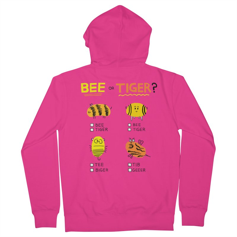 Bee or Tiger? Men's French Terry Zip-Up Hoody by jeffisawesome's Artist Shop