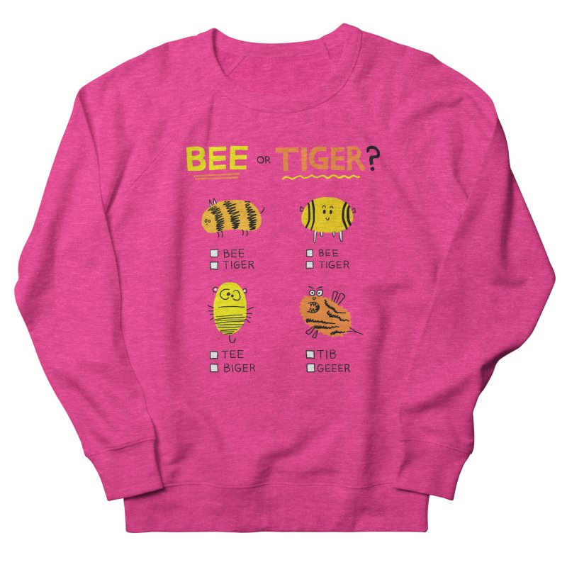 Bee or Tiger? Men's French Terry Sweatshirt by jeffisawesome's Artist Shop