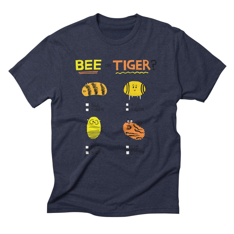 Bee or Tiger? Men's Triblend T-Shirt by jeffisawesome's Artist Shop
