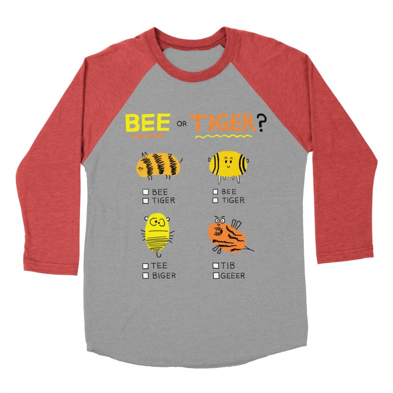 Bee or Tiger? Men's Baseball Triblend Longsleeve T-Shirt by jeffisawesome's Artist Shop