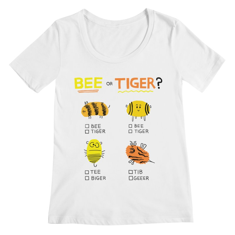 Bee or Tiger? Women's Regular Scoop Neck by jeffisawesome's Artist Shop