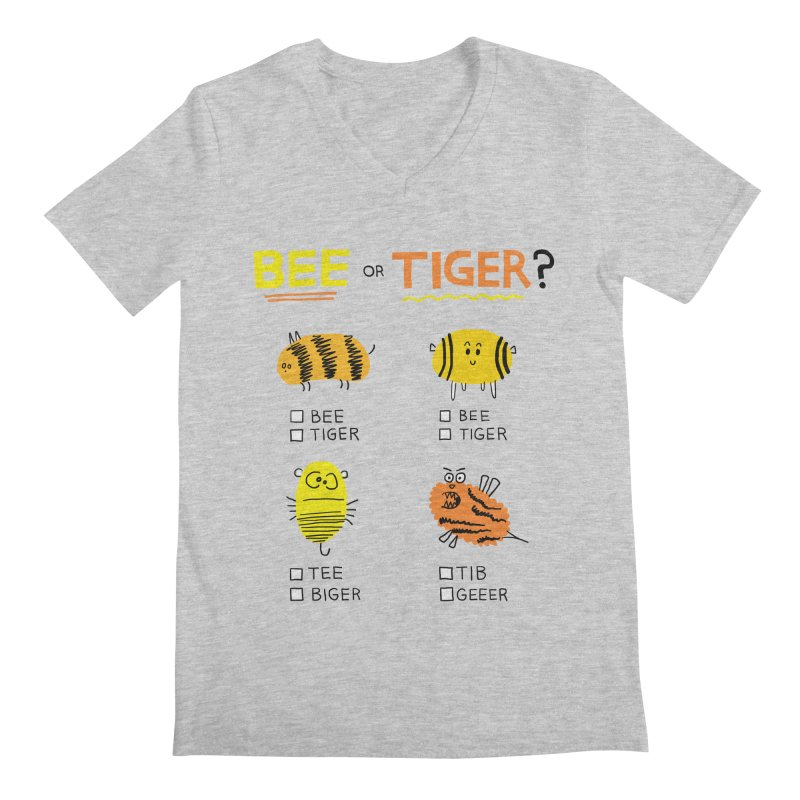 Bee or Tiger? Men's Regular V-Neck by jeffisawesome's Artist Shop