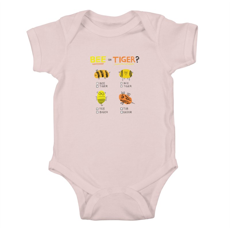 Bee or Tiger? Kids Baby Bodysuit by jeffisawesome's Artist Shop