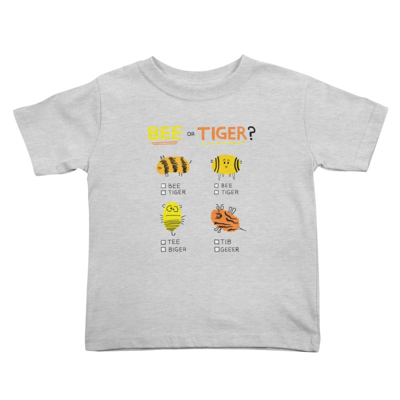 Bee or Tiger? Kids Toddler T-Shirt by jeffisawesome's Artist Shop