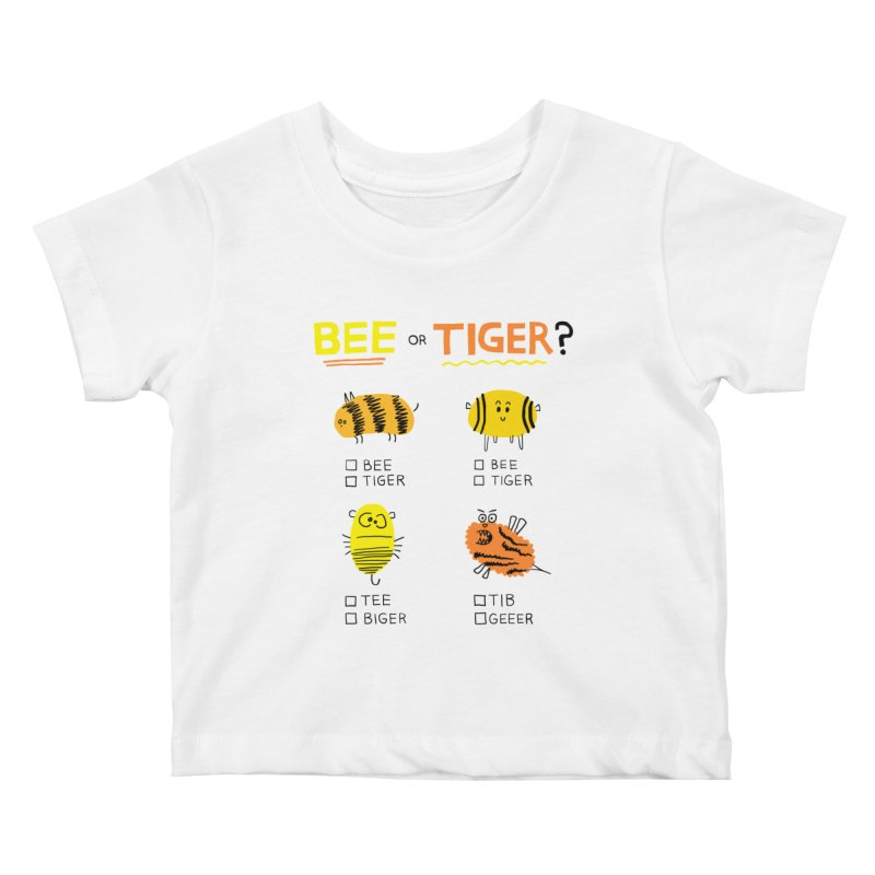 Bee or Tiger? Kids Baby T-Shirt by jeffisawesome's Artist Shop