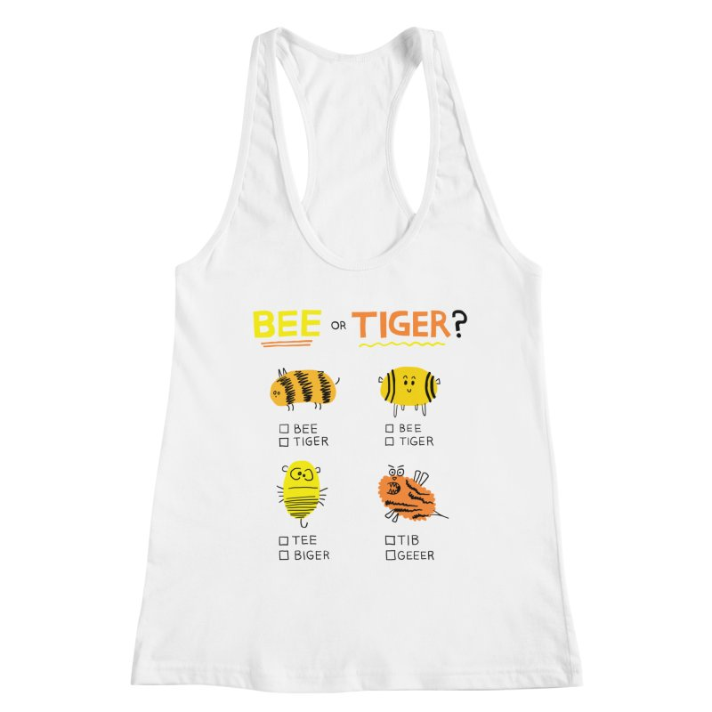 Bee or Tiger? Women's Tank by jeffisawesome's Artist Shop