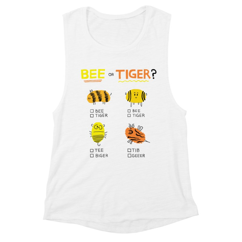 Bee or Tiger? Women's Muscle Tank by jeffisawesome's Artist Shop
