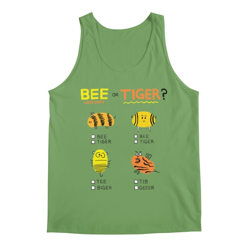 Bee or Tiger? Men's Tank by jeffisawesome's Artist Shop