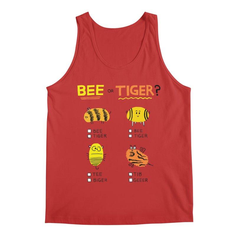 Bee or Tiger? Men's Regular Tank by jeffisawesome's Artist Shop