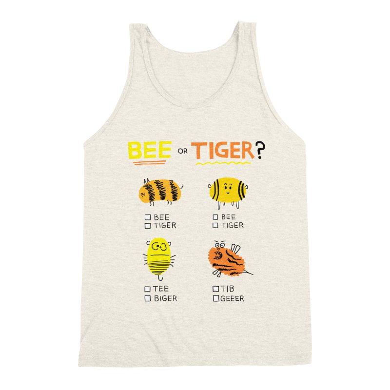 Bee or Tiger? Men's Triblend Tank by jeffisawesome's Artist Shop