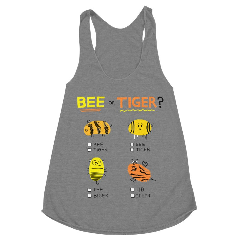 Bee or Tiger? Women's Racerback Triblend Tank by jeffisawesome's Artist Shop