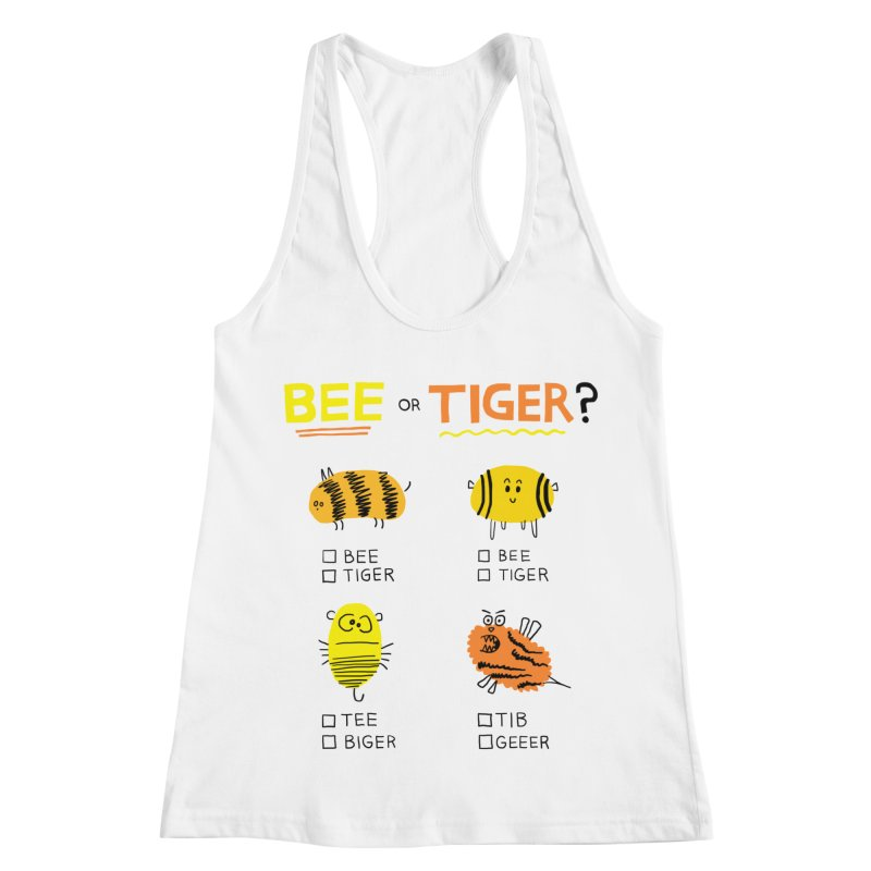 Bee or Tiger? Women's Racerback Tank by jeffisawesome's Artist Shop