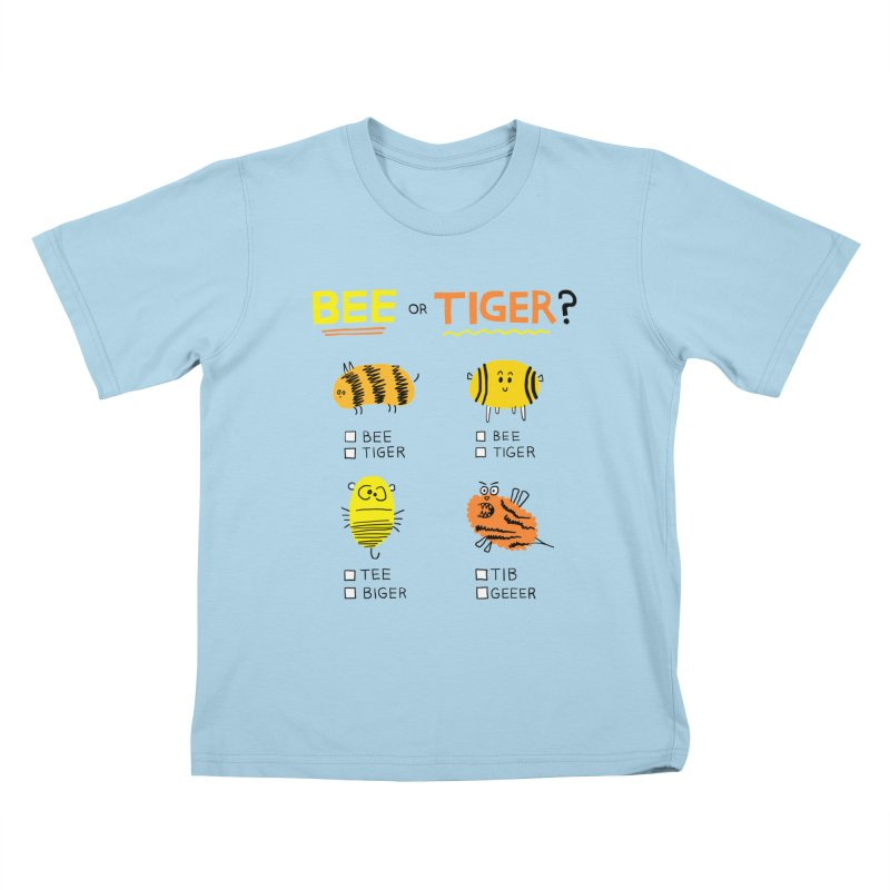 Bee or Tiger? Kids T-Shirt by jeffisawesome's Artist Shop