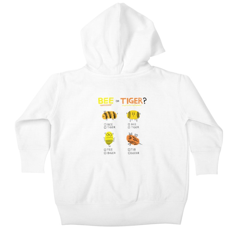Bee or Tiger? Kids Baby Zip-Up Hoody by jeffisawesome's Artist Shop