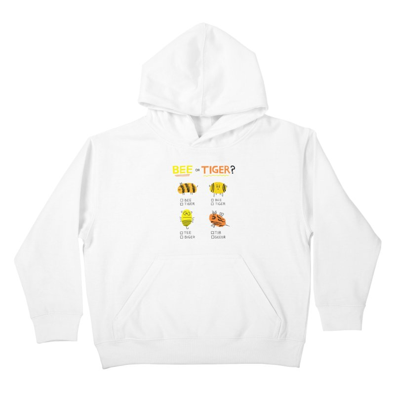 Bee or Tiger? Kids Pullover Hoody by jeffisawesome's Artist Shop