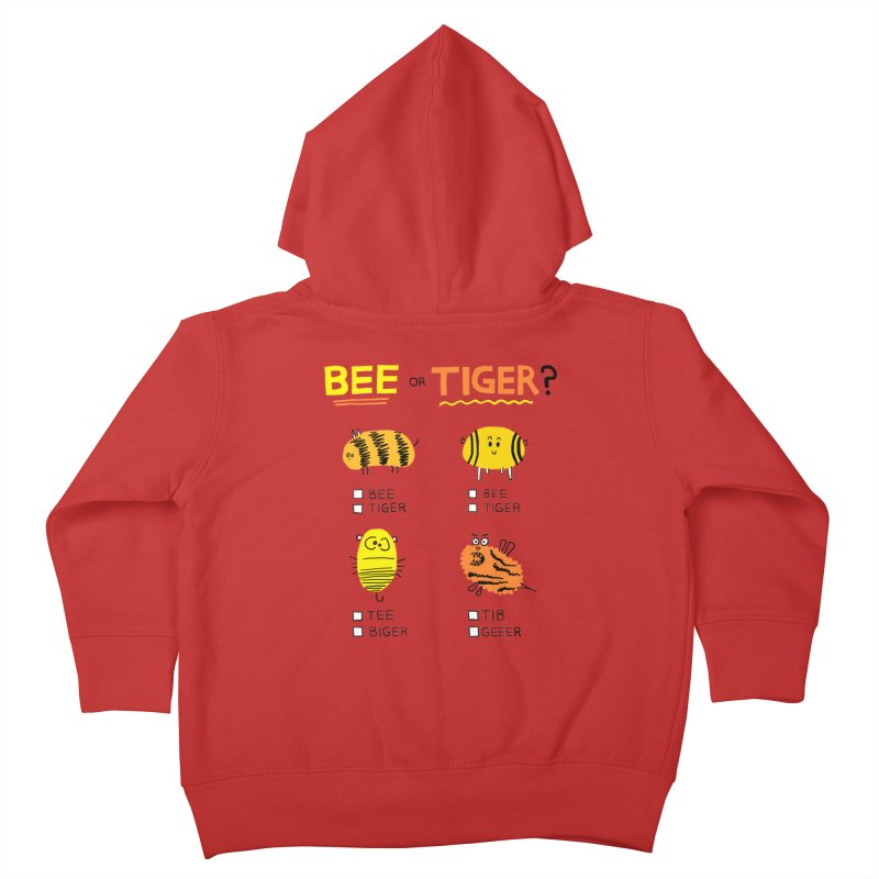 Bee or Tiger? Kids Toddler Zip-Up Hoody by jeffisawesome's Artist Shop