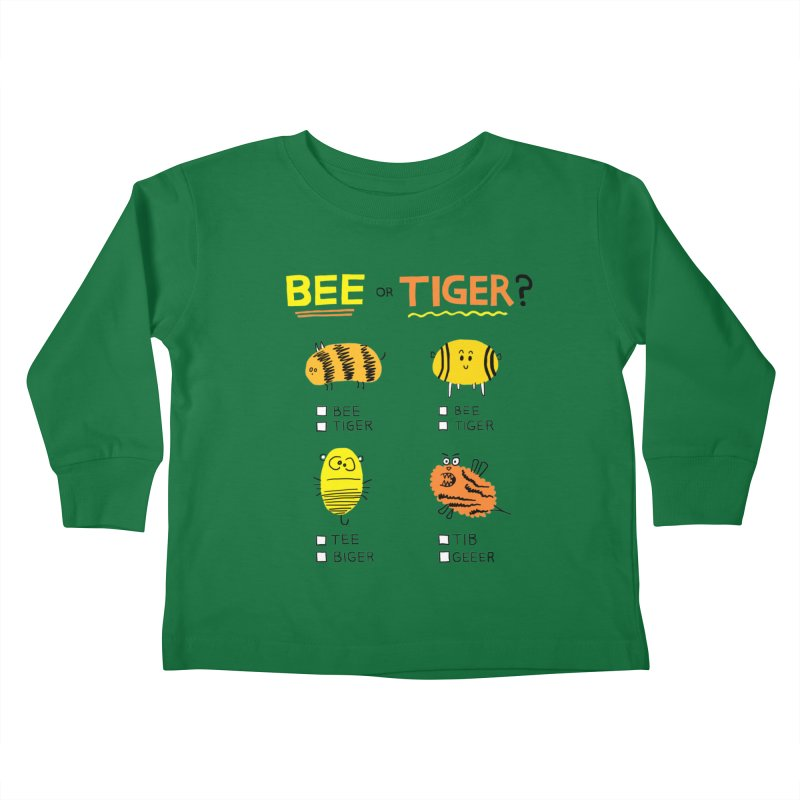 Bee or Tiger? Kids Toddler Longsleeve T-Shirt by jeffisawesome's Artist Shop