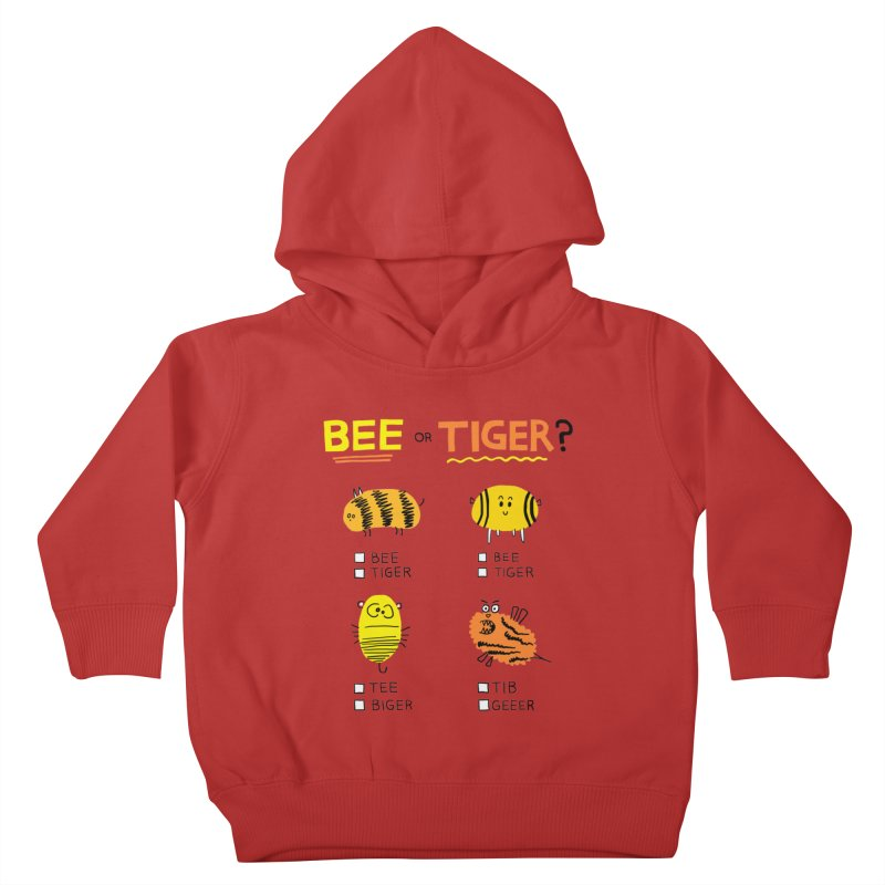 Bee or Tiger? Kids Toddler Pullover Hoody by jeffisawesome's Artist Shop