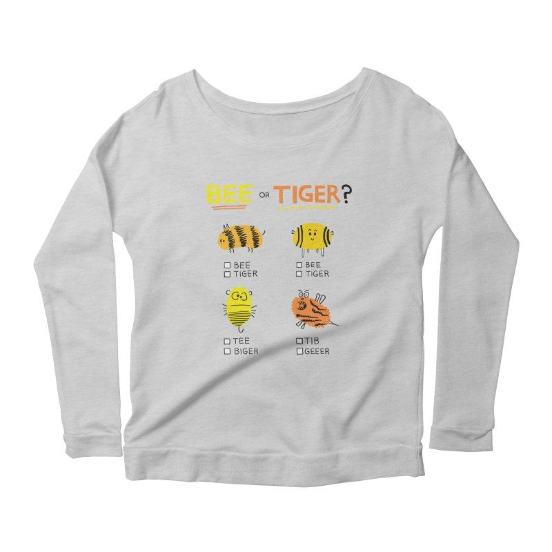 Bee or Tiger? Women's Scoop Neck Longsleeve T-Shirt by jeffisawesome's Artist Shop