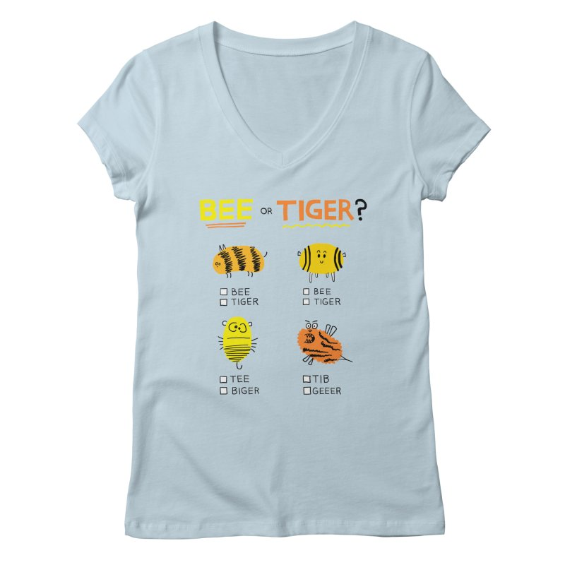 Bee or Tiger? Women's V-Neck by jeffisawesome's Artist Shop