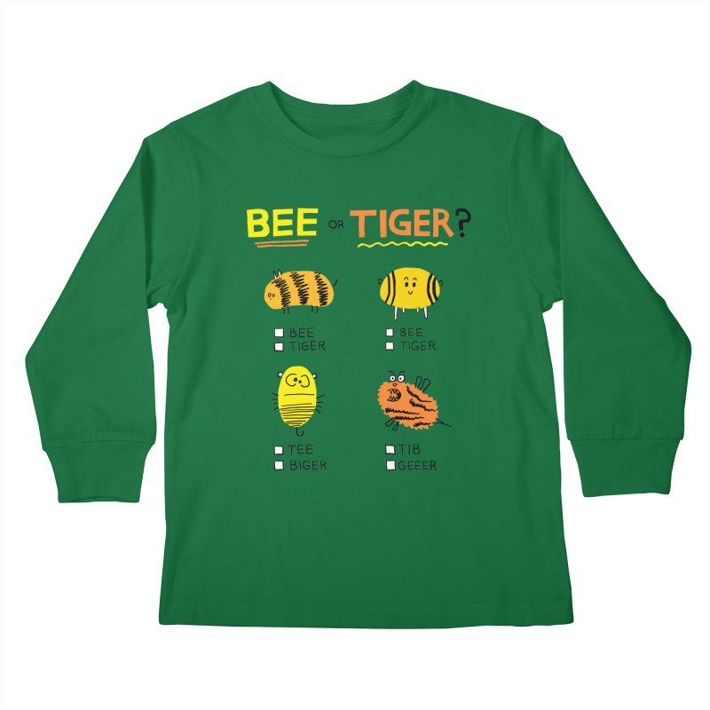 Bee or Tiger? Kids Longsleeve T-Shirt by jeffisawesome's Artist Shop