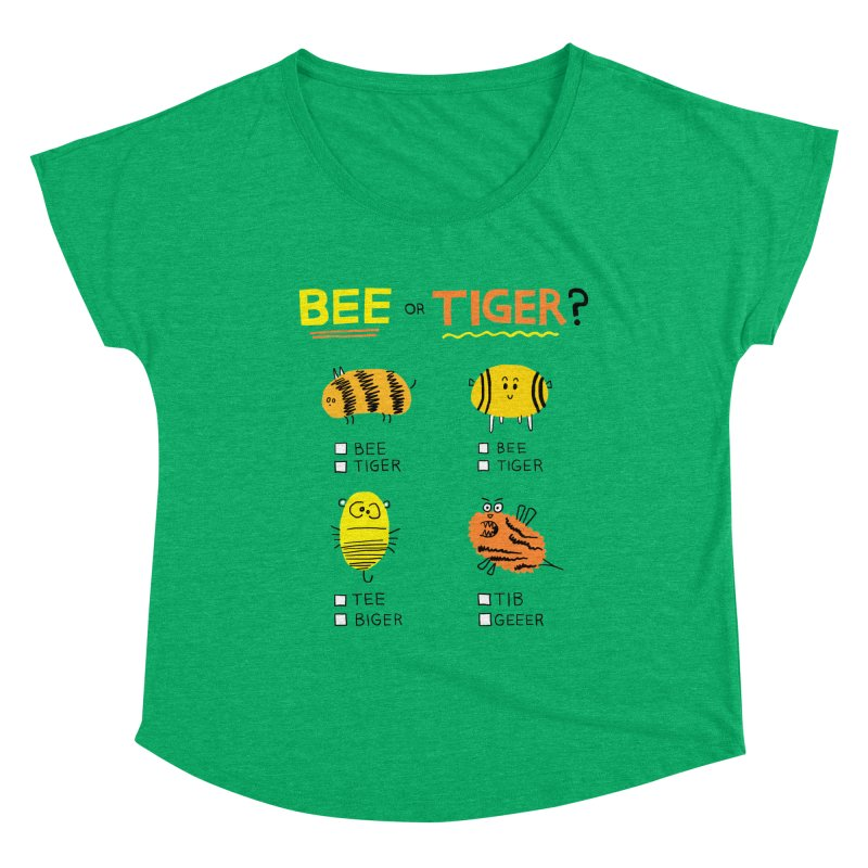 Bee or Tiger? Women's Scoop Neck by jeffisawesome's Artist Shop