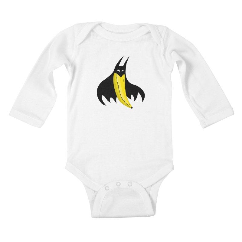 Batnana Kids Baby Longsleeve Bodysuit by jeffisawesome's Artist Shop