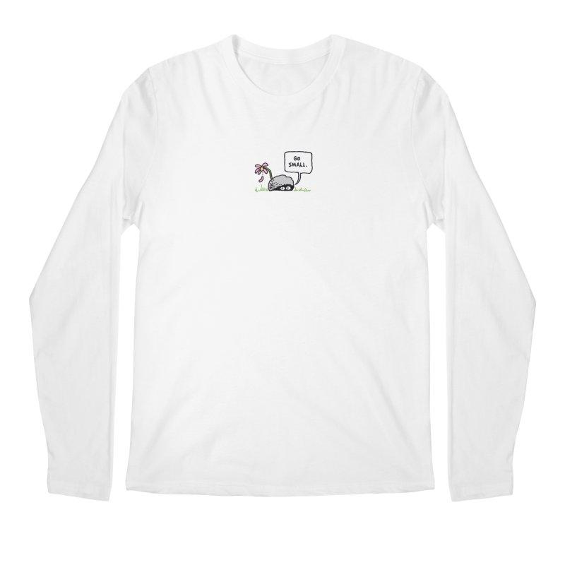 Go Small Men's Longsleeve T-Shirt by jeffisawesome's Artist Shop
