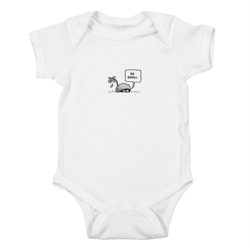 Go Small Kids Baby Bodysuit by jeffisawesome's Artist Shop